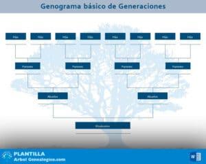 genograma basico generaciones